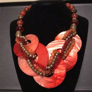 Jewelry - Red shell bead necklace